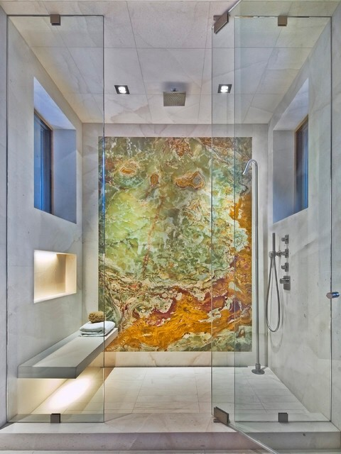 Placing A Backlit Onyx Slab In Shower Wall