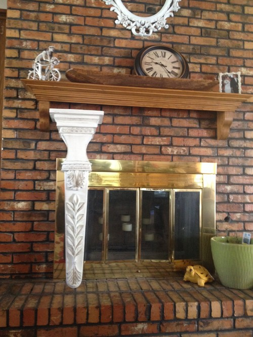 I have this 1980s brass fireplace surround that I