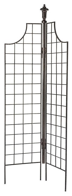 2-Panel Garden Screen Trellis Weather Resistant Wrought Iron Large.