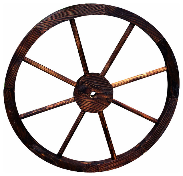 Decorative Wagon Wheel / Trellis, Burnt Brown.