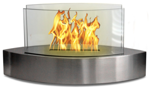 Lexington Anywhere Fireplace, Stainless Steel.