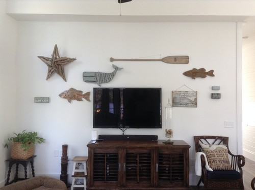 Wall Decor Around Mounted TV
