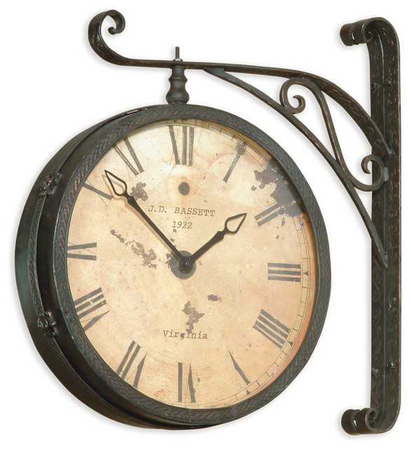 Railroad Clock Victorian Wall Clocks by BASSETT MIRROR CO