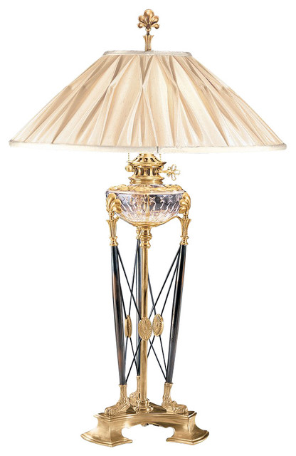 Decorative Crafts Brass And Crystal Table Lamp