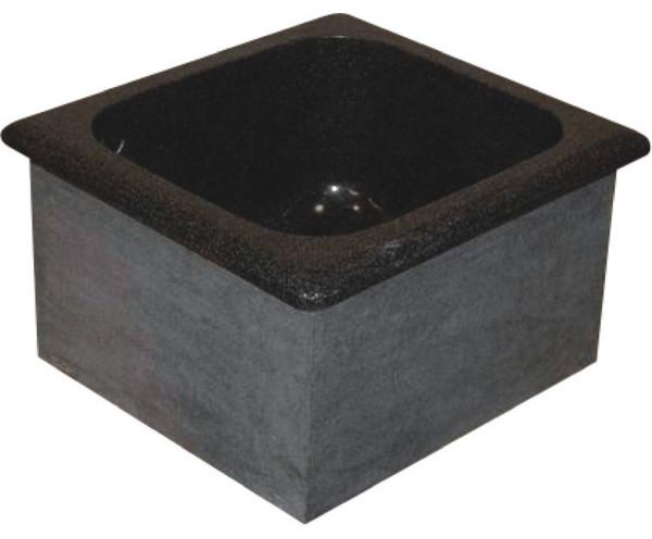 """Single Bowl Granite Prep Sink, 15""""x16""""."""
