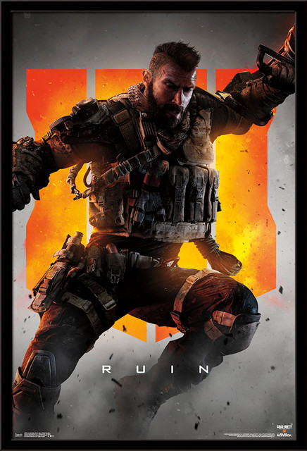 Call Of Duty Black Ops 4 Ruin Key Art Poster Contemporary Prints And Posters By Trends International