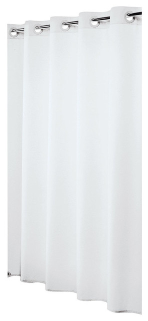 Extra Long Hookless Shower Curtain 72\