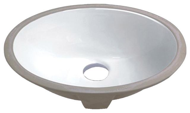 Oval Undermount Vanity Sink