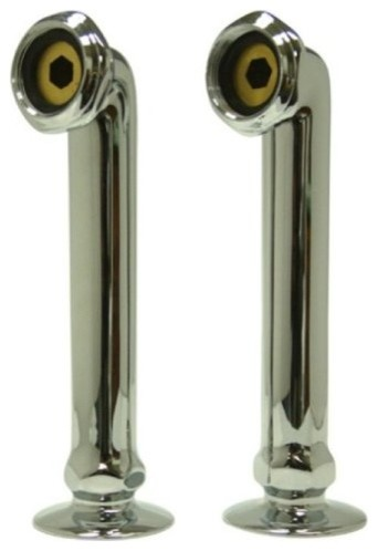 Polished Chrome Vintage 6 Deck Mount Risers For Clawfoot Tub Faucet CC6