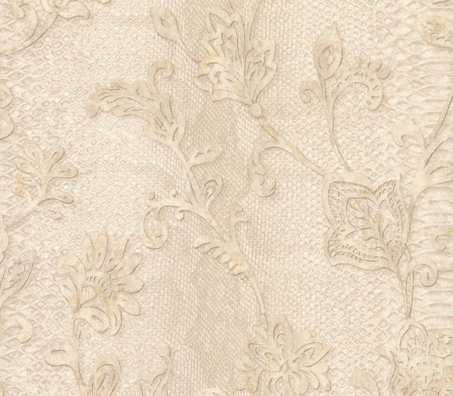 Puglia Cream Python Arabesque Wallpaper - Transitional - Wallpaper - by Brewster Home Fashions