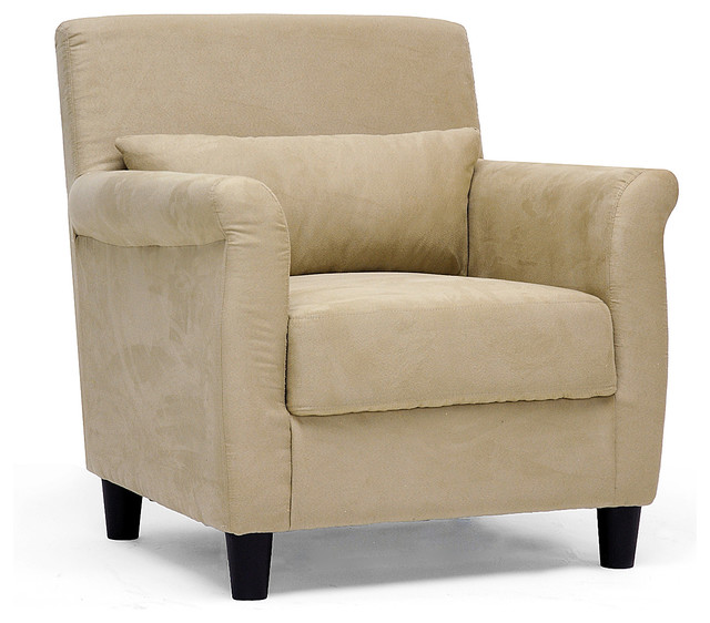 tan microfiber club chair transitional armchairs and accent chairs
