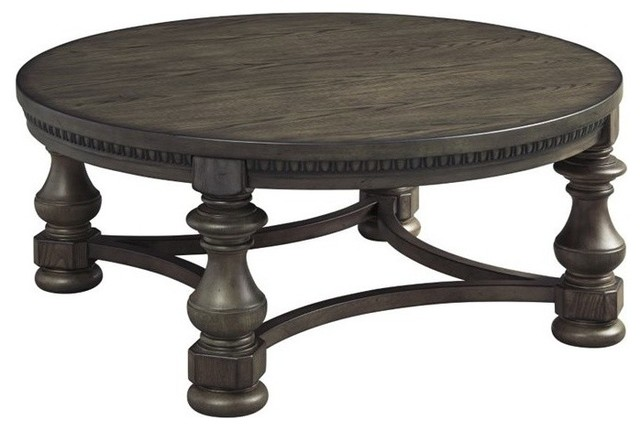 Ashley Laron Round Coffee Table Grayish Brown