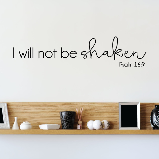 i will not be shaken psalm 16:9 religious wall quotes decal
