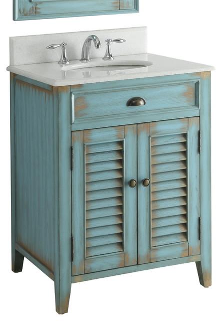 Chans furniture abbeville bathroom sink vanity distressed blue 26 bathroom vanities and for Distressed bathroom vanity cabinets