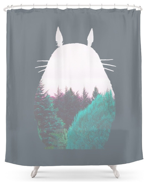 society6 troll of the dreamland forest shower curtain