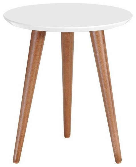 6c1047cebf63c Mid Century Round Wooden End Table