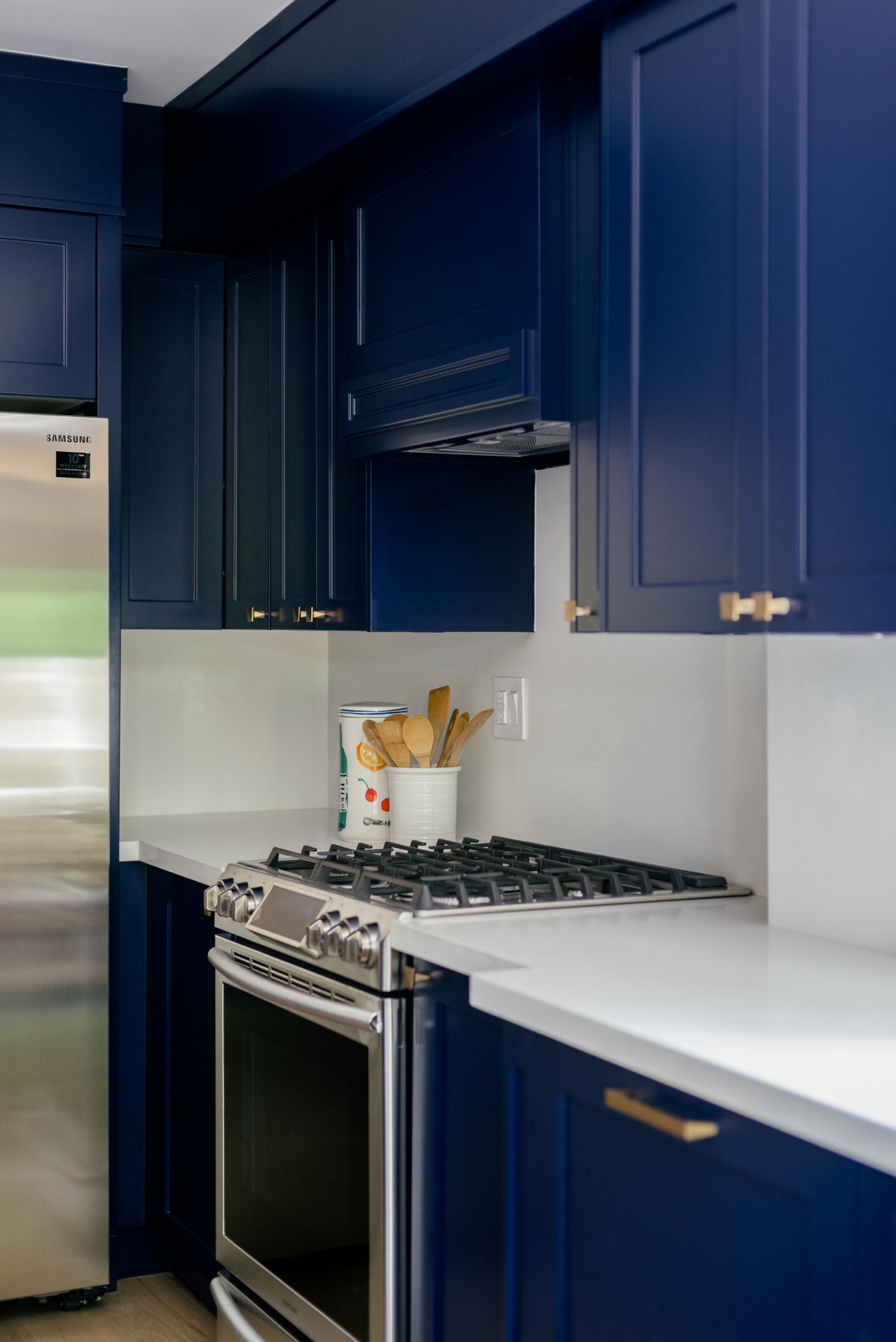 Stylish Navy and Gold Kitchen