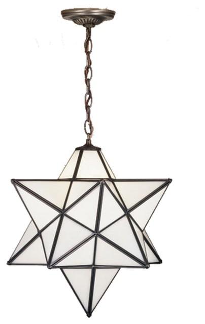 "Meyda Tiffany Moravian Star 24""  Modern / Contemporary Outdoor Pendant Light X-4"