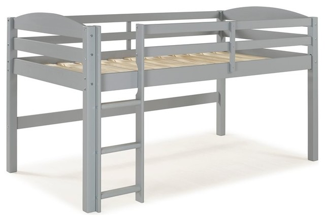 Solid Wood Low Loft Twin Bed - Grey.