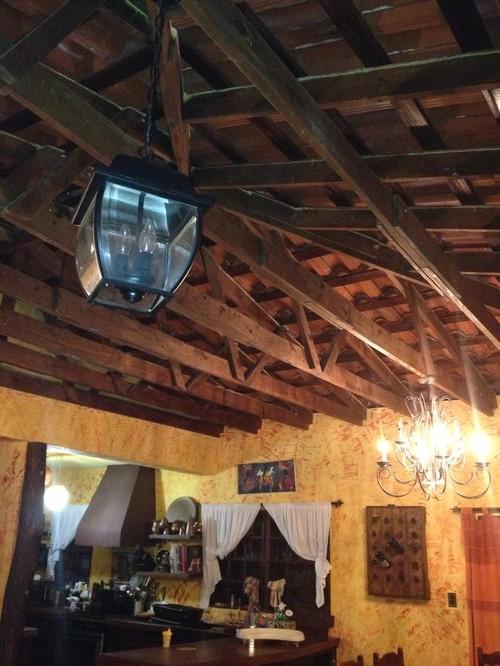 Brighten Dark Exposed Rafter Ceiling