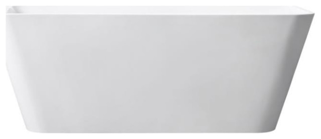 "Avanity 63"" Acrylic Free Standing Rectangular Soaking Bathtub, ABT1530-GL"