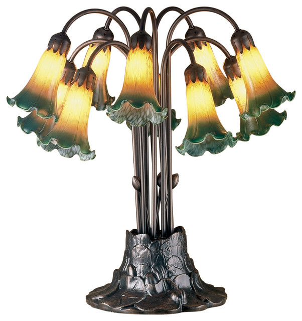Pond Lily 10 Light Table Lamp   Traditional   Table Lamps   By Meyda