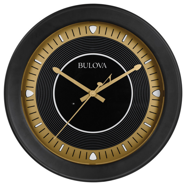 Bulova Long Play 16 75 Inch Indoor Outdoor Wall Clock With Bluetooth Speaker