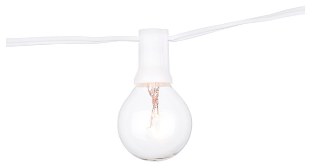 Global String Lights 25ft / 25 Lights White Cord With
