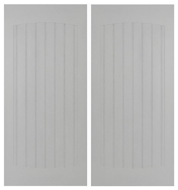 Craftsman Beadboard Saloon Doors Primed Transitional Interior