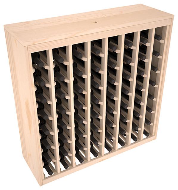 64 Bottle Deluxe Wine Rack in Ponderosa Pine - Transitional - Wine Racks - by Wine Racks America