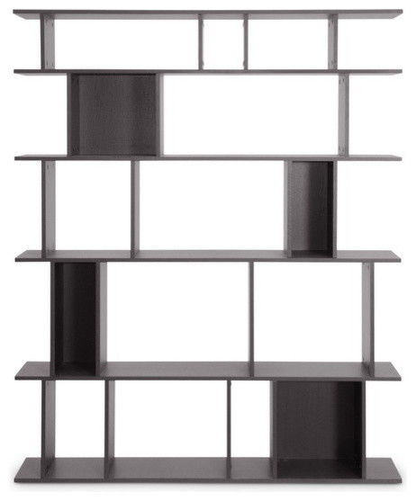 Baxton Studio Tilson Dark Brown Modern Bookshelf contemporary-bookcases