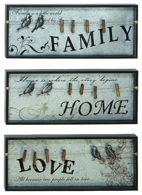 Jakarta Bird Wall Decor 3 Piece Set 13 75 X42