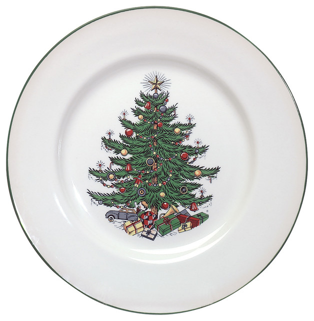 Cuthbertson Original Christmas Tree Traditional Dinner Plate - Traditional  - Holiday Dinnerware - by Winterfield Gifts - Cuthbertson Original Christmas Tree Traditional Dinner Plate