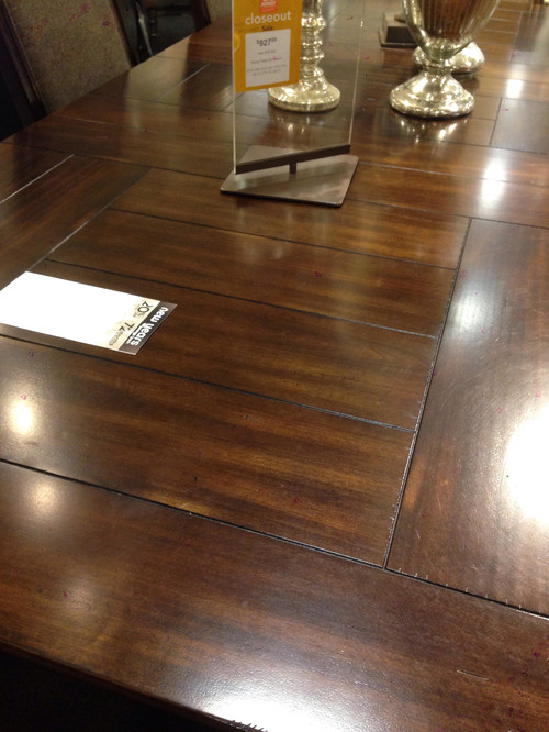 Mixing Dining Table Wood With Different Type Of Wood Flooring