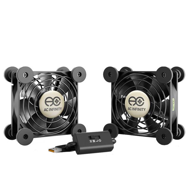 AC Infinity MULTIFAN S5, Quiet Dual 80mm USB Cooling Fan - Modern - by AC Infinity