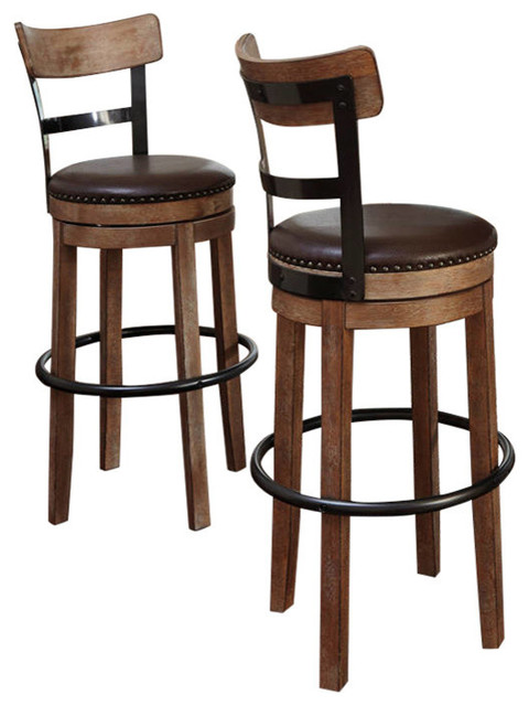 Ashley Direct D542 130 Pinnadel Tall Uph Swivel Barstool