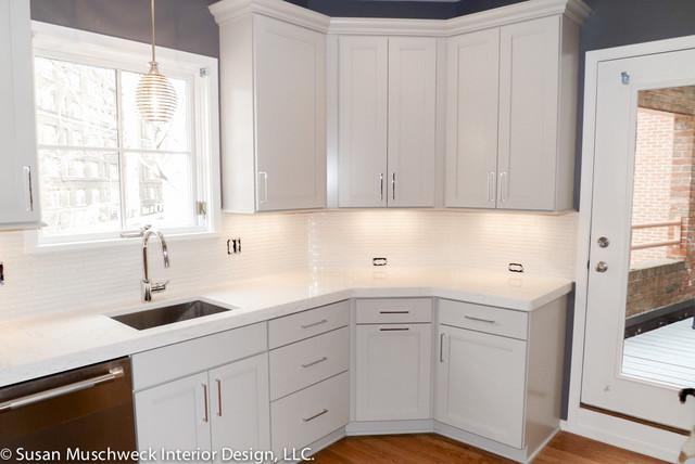 Small Townhouse Kitchen Contemporary Kitchen Other By Susan Muschweck Interior Design Llc