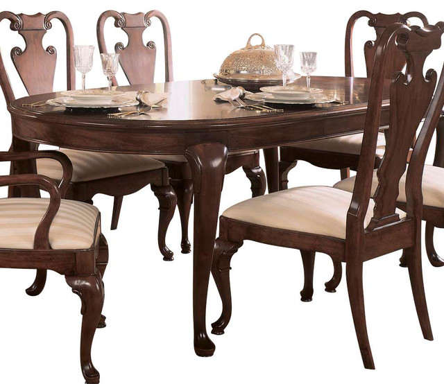 american drew cherry grove oval leg dining table in antique cherry traditional dining tables. Interior Design Ideas. Home Design Ideas