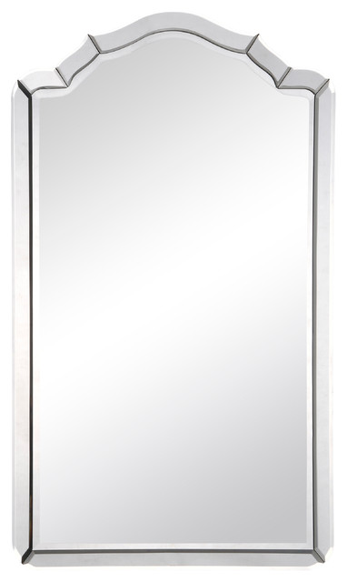 Sylvester Modern Classic Beveled Arch Frame Mirror.