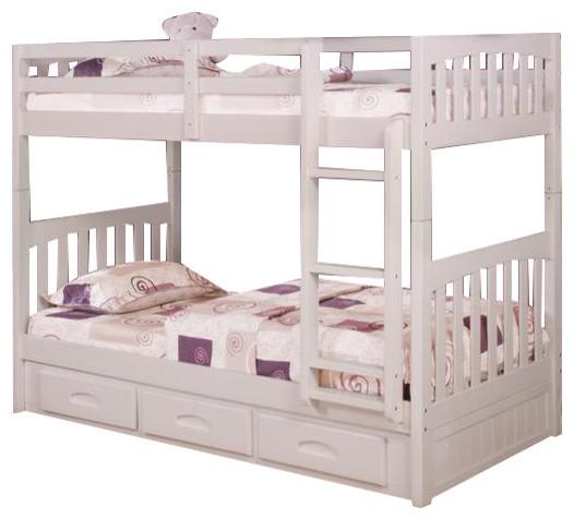 Custom kids furniture adult bunk beds bunk beds houzz - Custom loft beds for adults ...