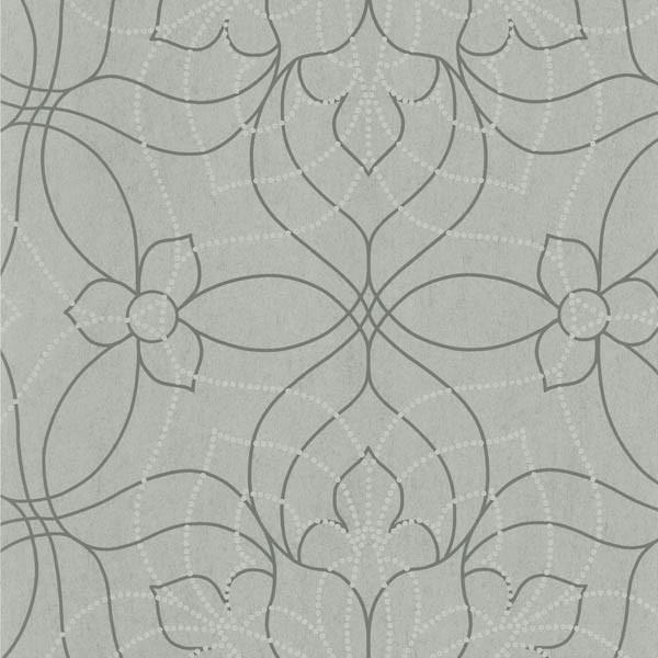Charlotte Gray Modern Floral Wallpaper Bolt