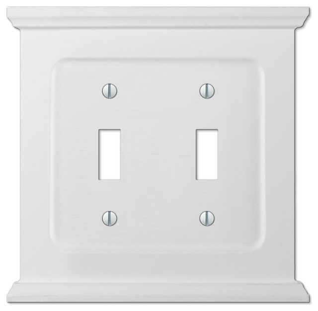 Mantel White Wood 2 Toggle Wall Plate