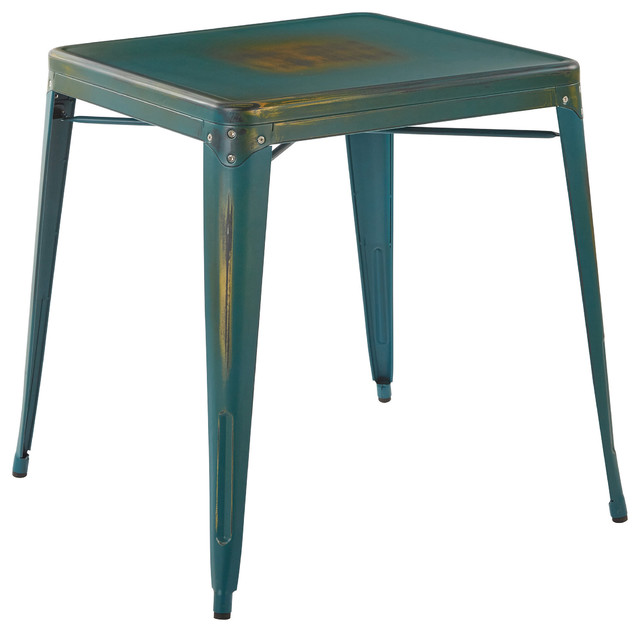 Bristow Antique Style Metal Table Antique Style Turquoise  : contemporary dining tables from www.houzz.com size 640 x 632 jpeg 47kB