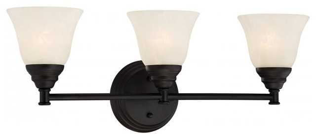 Kendall 3 Light Bath Bar With Black