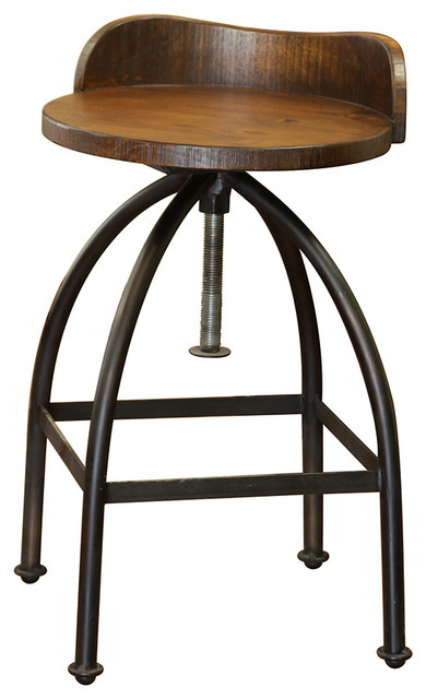 Miraculous Ashland Low Back Adjustable Height Bar Stool Andrewgaddart Wooden Chair Designs For Living Room Andrewgaddartcom