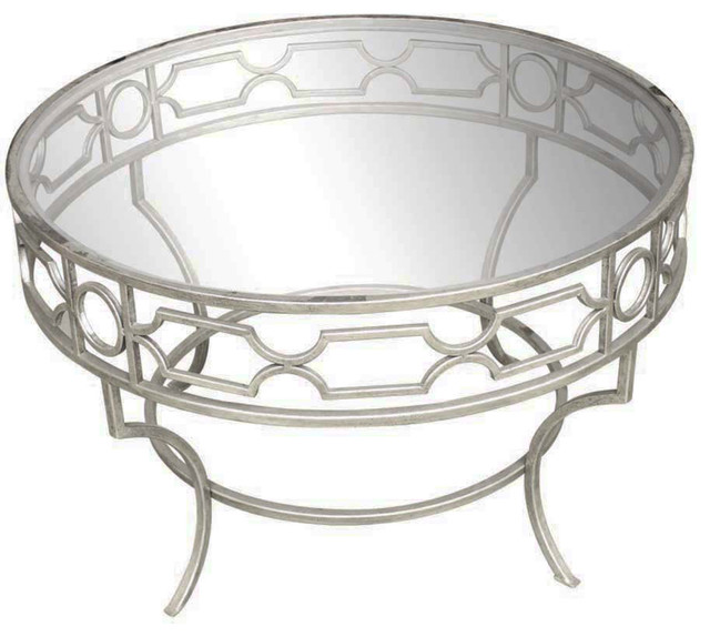 Cassia Cocktail Table, Round, Silver