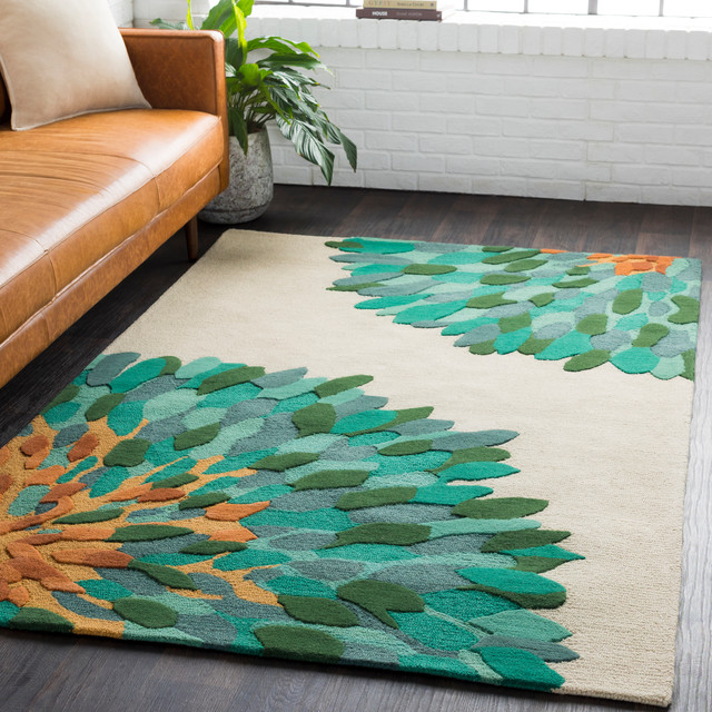 Pollack Modern Dark Green Emerald Area Rug Contemporary Area Rugs By Gwg Outlet Houzz