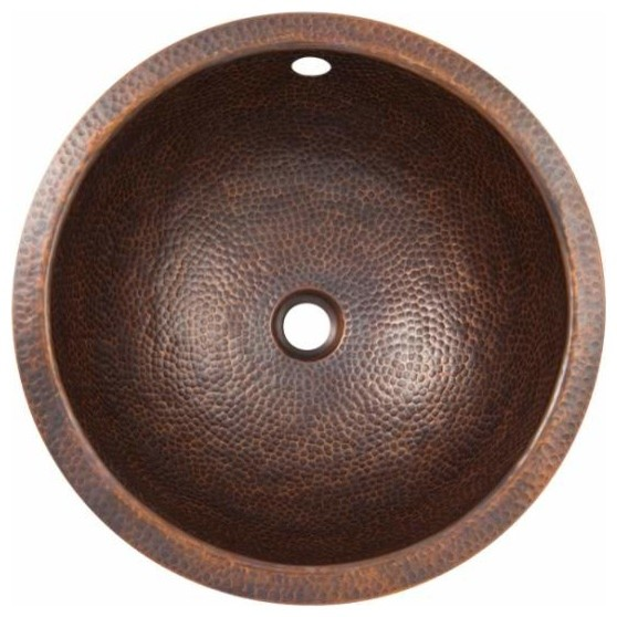 round undermount lavatory sink copper contemporary bathroom sinks