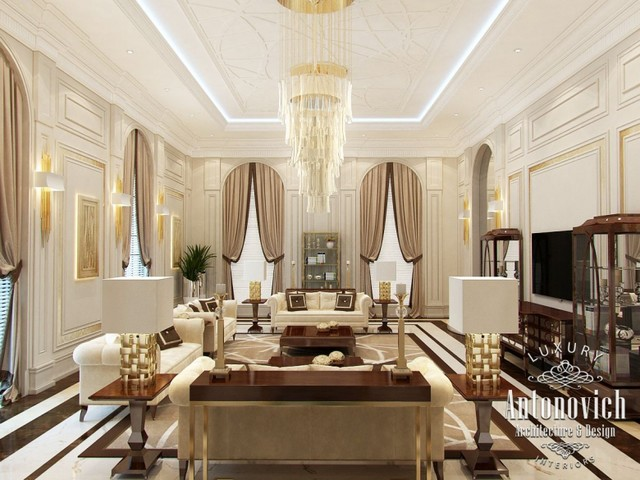 Arabic Living Room Decoration Of Arabic Majlis From Luxury Antonovich Design Other By