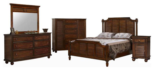 Bahama Shutter Wood 5-Piece Queen Bedroom Set